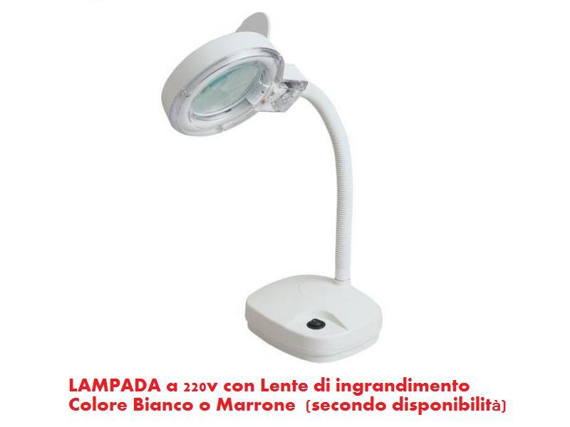 lampada con lente di ingrandimento fattore 3x 220v