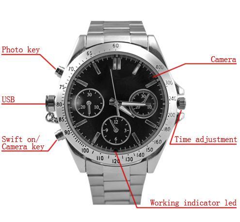 orologio microcamera